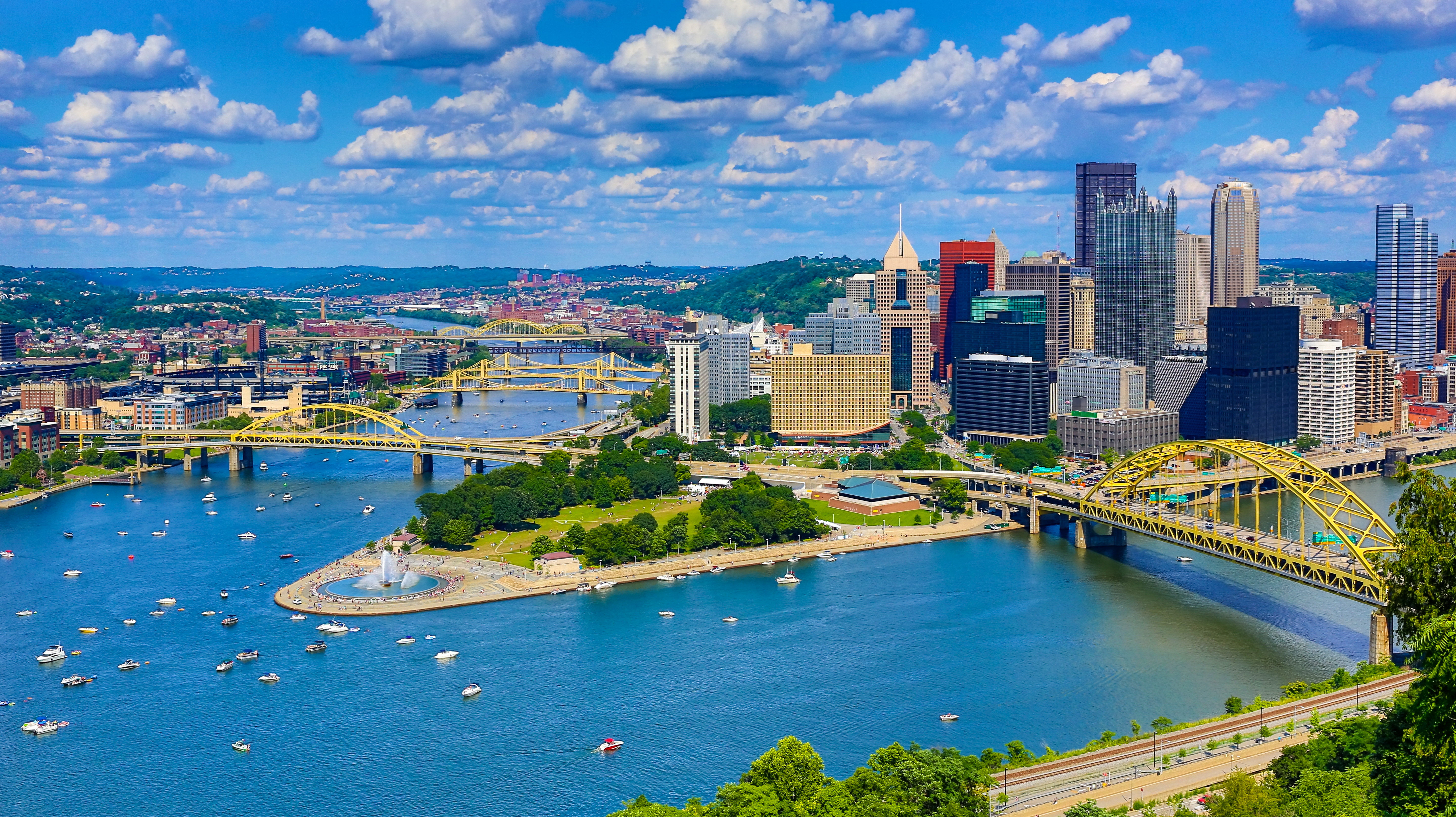 Aerial Pittsburgh Skyline | Davalyn Corp